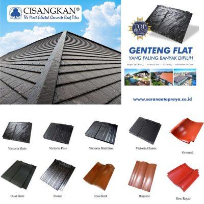 genteng flat beton cisangkan terbaik